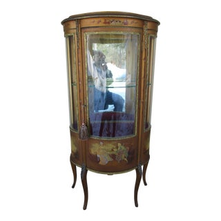 Vernis Martin French Vitrine or Curio Cabinet For Sale