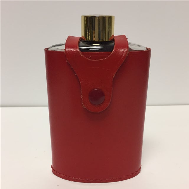Vintage Flask In Red Leather Case - Image 2 of 5