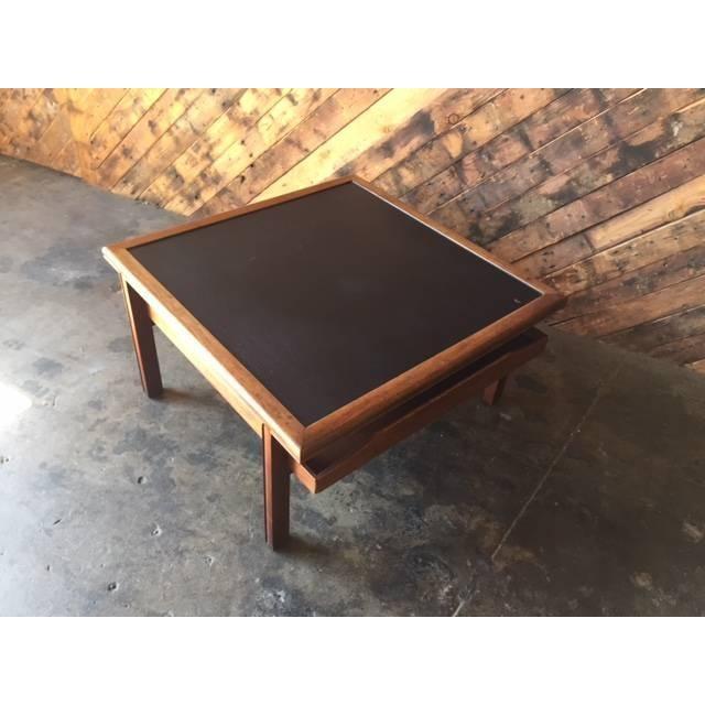 Mid Century Walnut Brown Saltman Coffee Table - Image 7 of 7