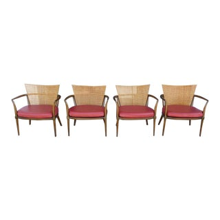 1950s Mid-Century Modern Bert England for Johnson Furniture Lounge Chairs - Set of 4 For Sale