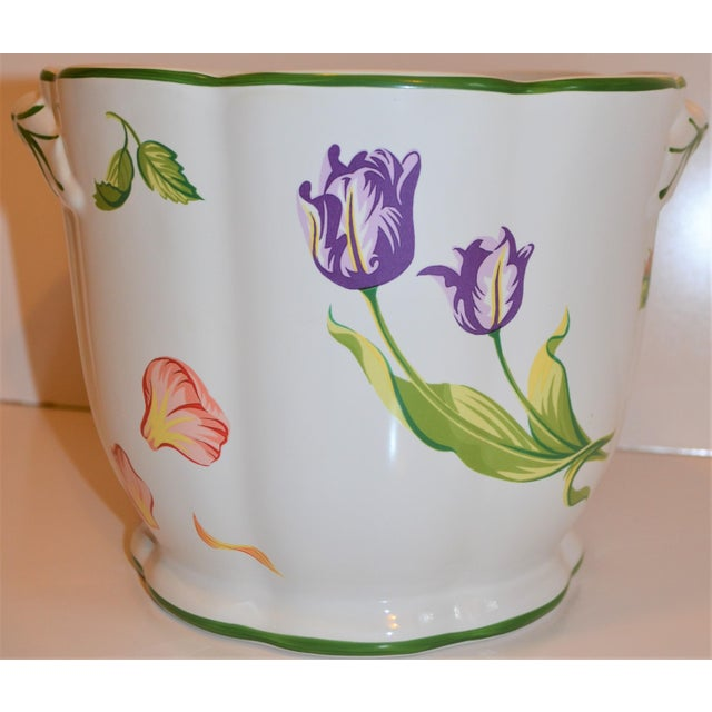 This is a beautiful Cachepot by Tiffany & Company. It is titled Tiffany Petals. It is very sweet and beautiful for spring...