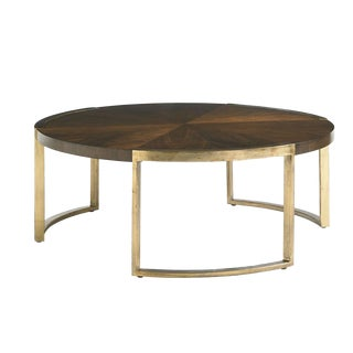Transitional Autry Round Cocktail Table For Sale
