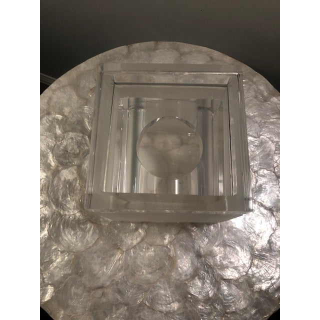 Frosted Lucite Tissue Box For Sale - Image 4 of 6