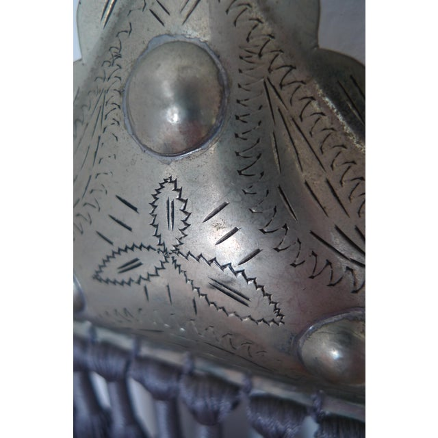 Moroccan Gray Silk & Brass Tassel Ornament - Image 9 of 9