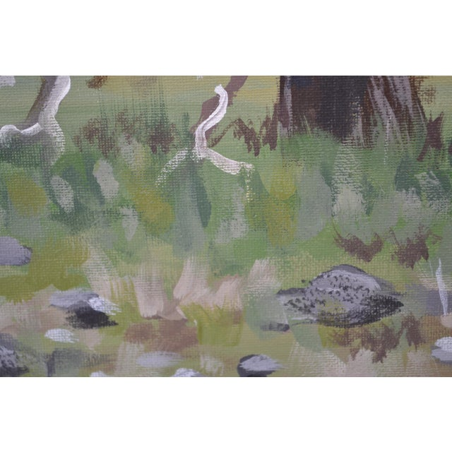 2010s Oak Meadow Acrylic Painting For Sale - Image 5 of 6