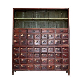 Antique Chinese Apothecary Cabinet, Monumental 7' High For Sale