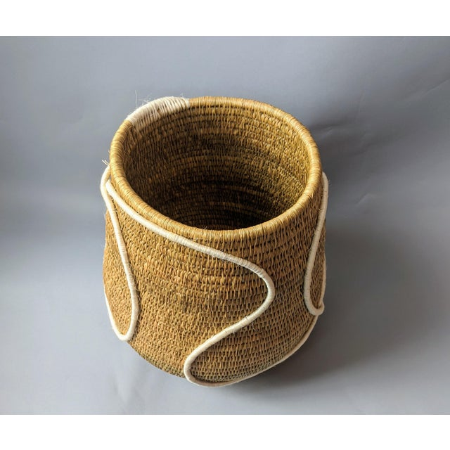 Swaziland Handwoven African Basket For Sale - Image 4 of 11