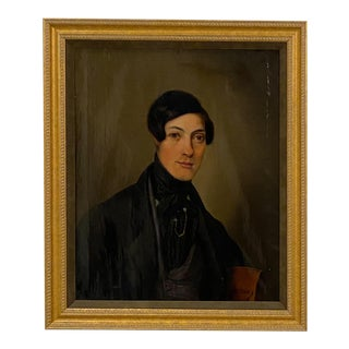 Portrait of a Young Gentleman, Germany Circa 1850 For Sale