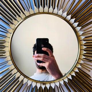 Vintage French Brass Sunburst Mirror Preview