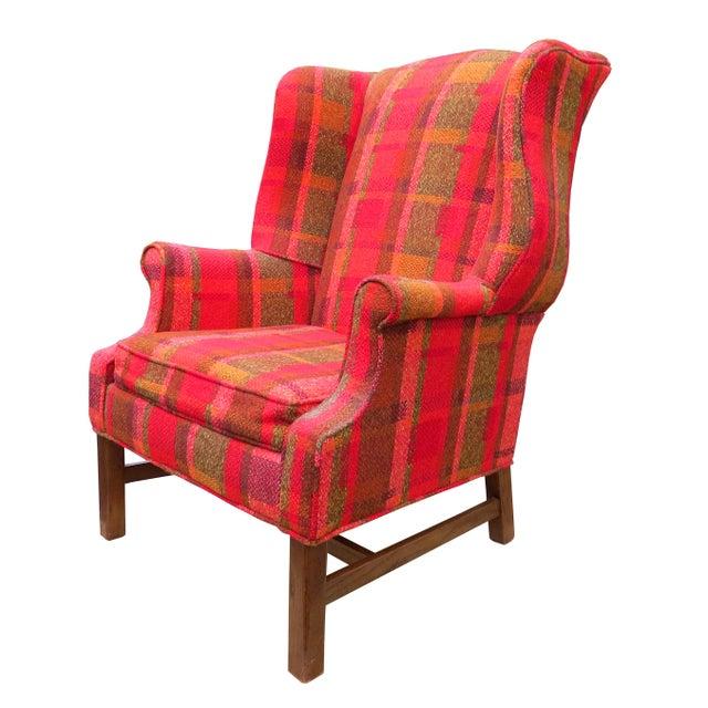 Flexsteel Vintage Mid-Century Flexsteel Georgian Style Wingback Chair For Sale - Image 4 of 13
