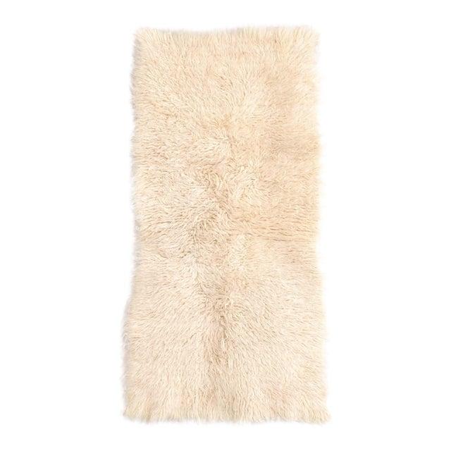 "Vintage Mid Century Wool Shag Rug - 3' X 5'5"" For Sale"