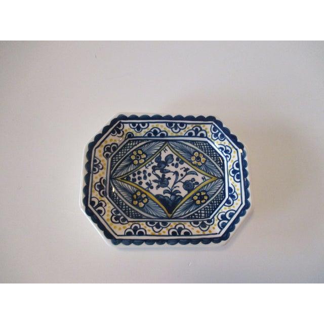 1980s Vintage Porcelain Portuguese Trinket Dish For Sale - Image 5 of 5