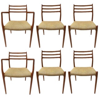 Set of Six Niels Moller Dining Chairs For Sale