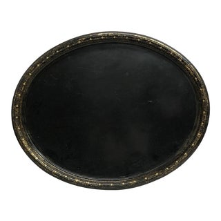 19th Century Tole Painted Metal Serving Tray For Sale