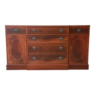 Baker Furniture Inlaid Mahogany Sideboard Buffet
