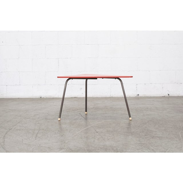 Retro Red Triangle Side Table - Image 5 of 11