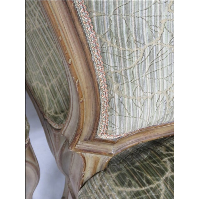French Distressed Painted Dining Chairs - Set of 6 - Image 4 of 10