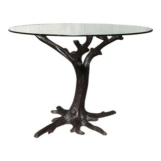 Contemporary Bronze Tree-Trunk Dining Table Base or Sculpture For Sale