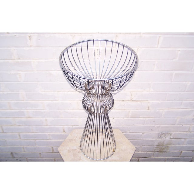 Vintage 1960s Steel Wire Sculptural Plant Stand - Image 4 of 9
