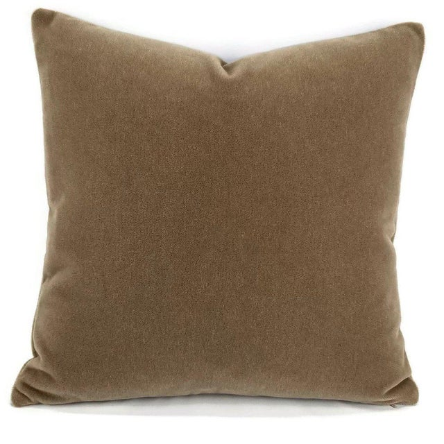 Not Yet Made - Made To Order S. Harris Melrose Mohair Velvet in Brown Pillow Cover For Sale - Image 5 of 5