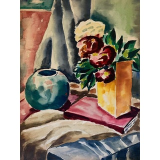 Vintage Still Life Watercolor For Sale