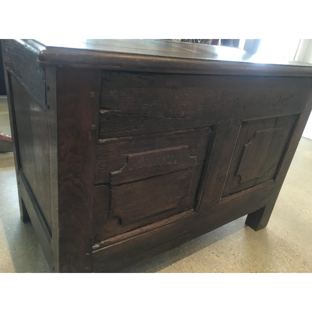 Early 19th Century 19th Century French Hand-Carved Blanket Chest For Sale - Image 5 of 6