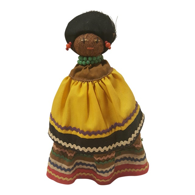 Vintage Seminole Indian Straw Doll For Sale