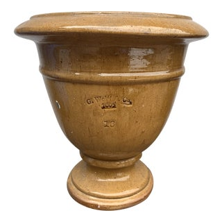 Guy Wolff & Co.Size 16 Glazed Yellow Planter For Sale