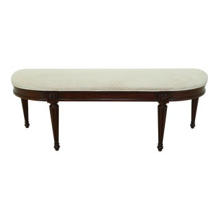 Henkel Harris Mahogany 297 Long Bench W. Upholstered Seat For Sale