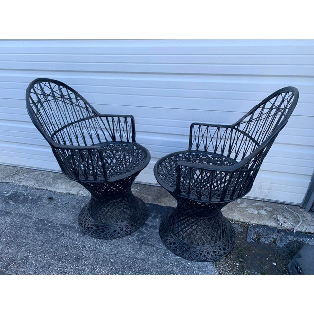 Mid-Century Modern Mid Century Russell Woodard Spun Arm Chairs - A Pair For Sale - Image 3 of 9