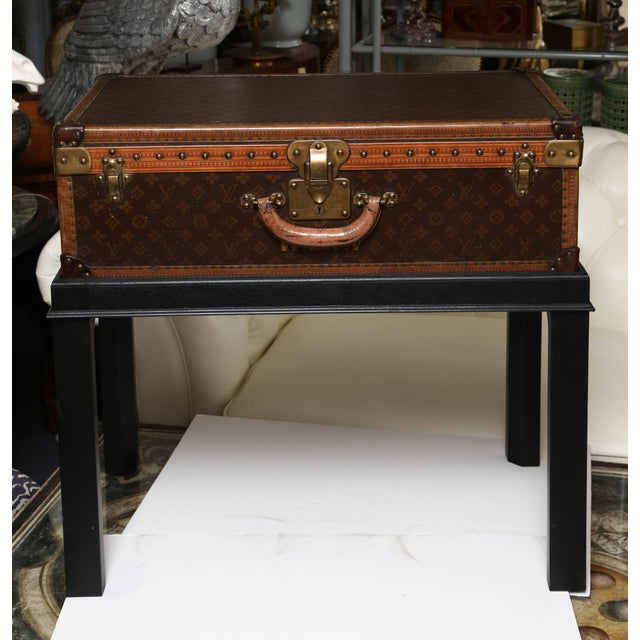 "A fine example of the Classic luggage, fitted with custom base. Measurements as a suitcase H 17.5"" x width 28"" x deep 8.75""."