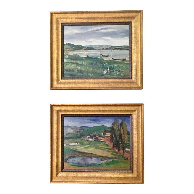 Landscape Paintings by Same Author - A Pair - Image 1 of 7