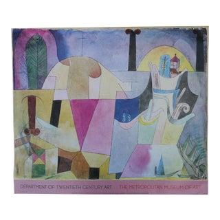 Paul Klee Landscape With Black Columns Metropolitan Museum of Art 1986 Poster For Sale