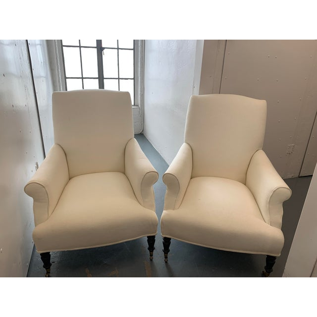 Metal Contemporary Williams Sonoma Home Upholstered Occasional Chairs - a Pair For Sale - Image 7 of 11