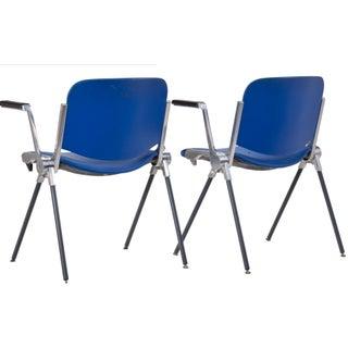 Giancarlo Piretti Royal Blue Chairs - a Pair Preview