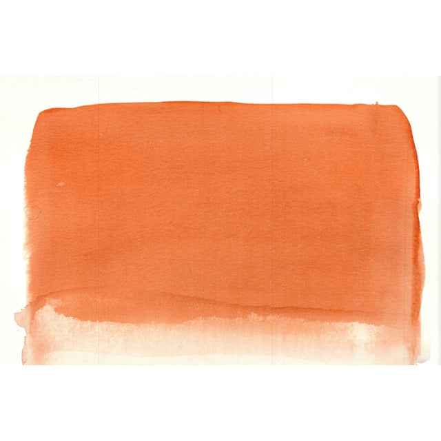 Gradient - Orange & Gris - Original Watercolor Art 11 in. x 15 in. 140 lbs acid free watercolor paper. Abstract - Original...