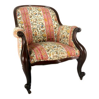 Victorian Chinoiserie Parlor Chair For Sale