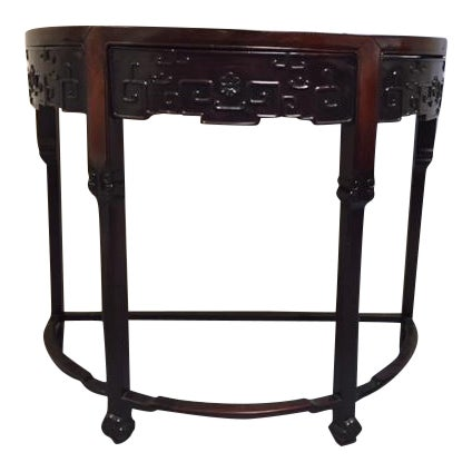 1800's Demi Lune Rosewood Console For Sale