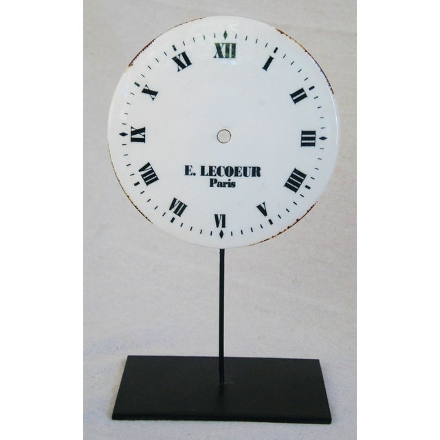 Late 20th Century Porcelain & Metal Clock Faces on Stands - Set of 3 For Sale - Image 5 of 10