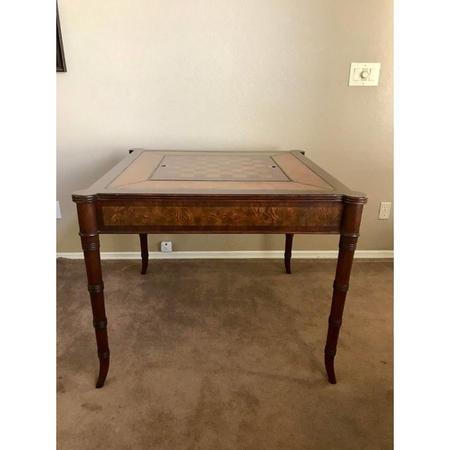 Ethan Allen Game Table For Sale - Image 9 of 9