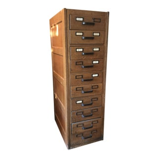 Vintage Card Catalogue - Oak For Sale