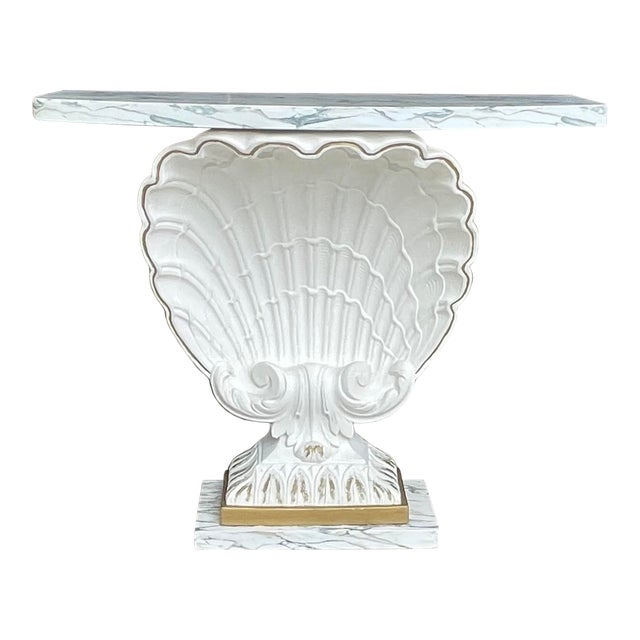 Grosfeld House Scallop Shell Console Table For Sale