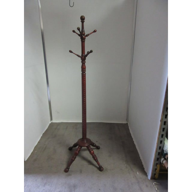 Late 19th Century 19th Century Victorian American Coat Rack With Turned Dowels For Sale - Image 5 of 6