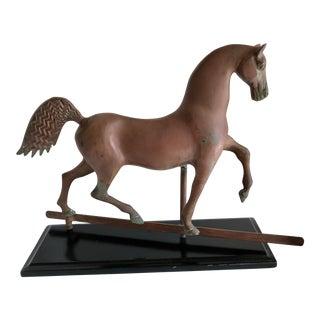 Classic Equestrian Metal Horse Sculpture For Sale