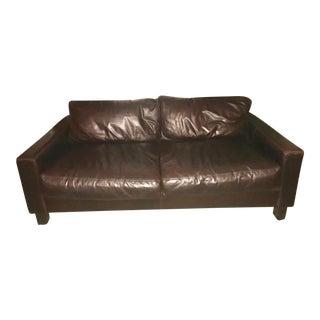 Down Filled Buffalo Leather Sofa
