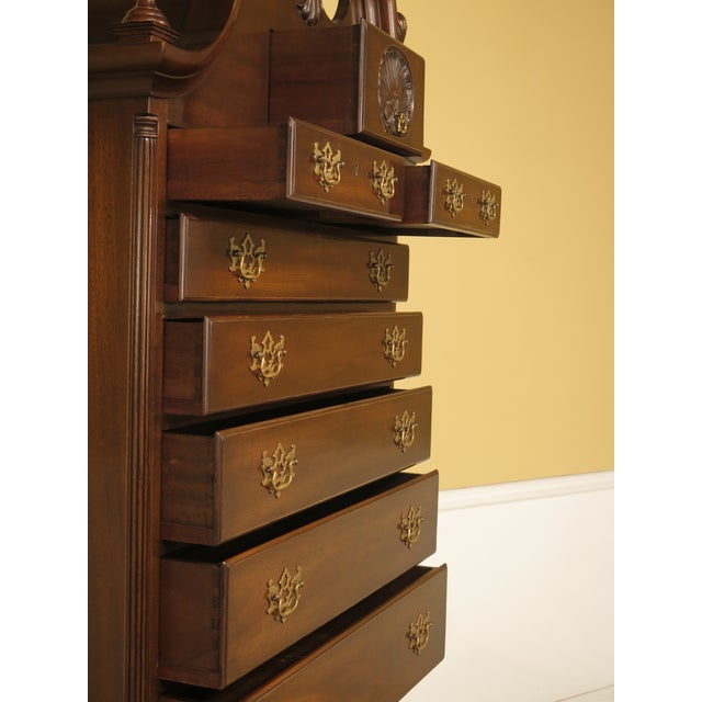 Kittinger Old Dominion Collection Mahogany Highboy For Sale - Image 9 of 12