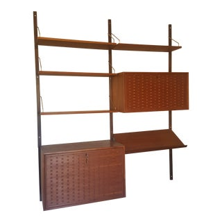 Mid-Century Modern Teak Wall Unit by Poul Cadovius For Sale