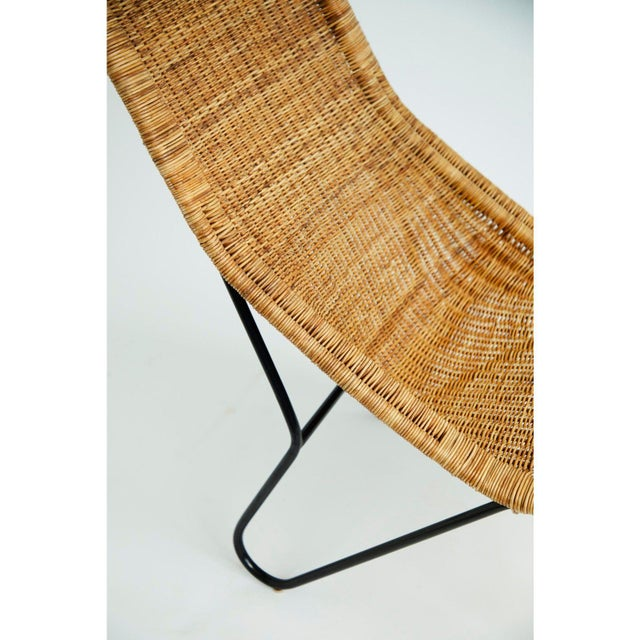 Vintage 1950s Wicker Chair For Sale In New York - Image 6 of 7