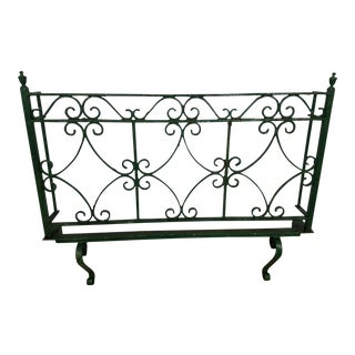 Antique Wrought Iron Wall Grate/Balcony