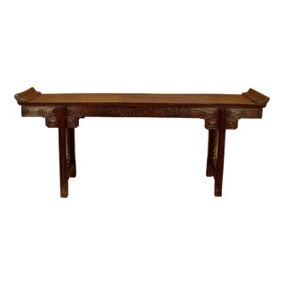 Large Antique Chinese Altar Table For Sale